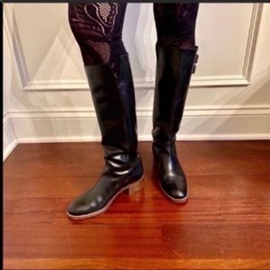 J. Crew luxe riding boots leather black 6